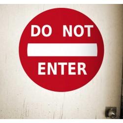 Sticker décoratif porte do not enter