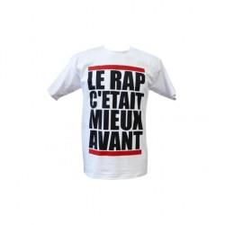 """Tee shirts artiste """"Le rap c'était..."""" Blanc"""
