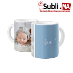 MUG PHOTO ANGE - BLEU 2