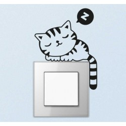 Sticker pour interrupteur Chat endormi