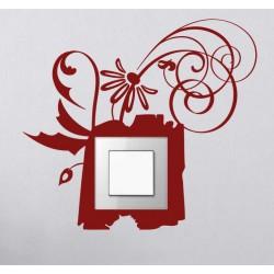 Sticker interrupteur floral