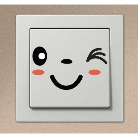 Sticker interrupteur manga