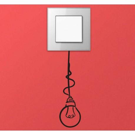Sticker interrupteur ampoule suspendue