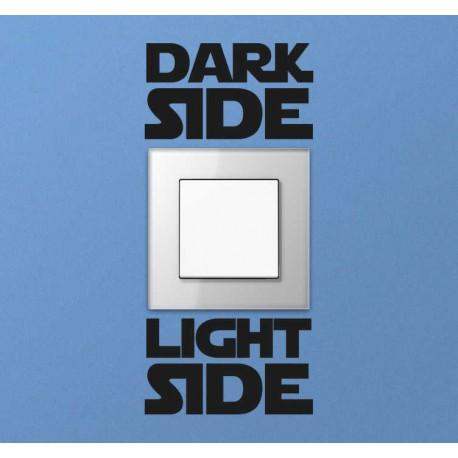 Sticker Star wars dark light side