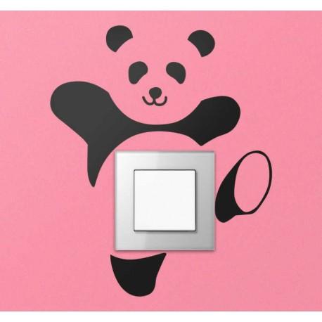 Sticker interrupteur panda